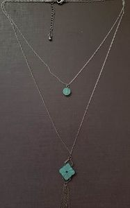 Urban Outfitters 2-tiered gemstone necklace